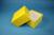 DELTA Box 75 / 1x1 ohne Facheinteilung, gelb, Höhe 75 mm, Karton standard....