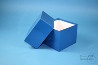 DELTA Box 100 / 1x1 without divider, blue, height 100 mm, fiberboard...