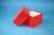 DELTA Box 100 / 1x1 ohne Facheinteilung, rot, Höhe 100 mm, Karton standard....