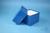 DELTA Box 130 / 1x1 ohne Facheinteilung, blau, Höhe 130 mm, Karton standard....