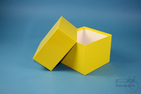 DELTA Box 130 / 1x1 without divider, yellow, height 130 mm, fiberboard...