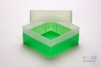 EPPi® Box 102 / 1x1 without divider, neon-green, height 102 mm fix, without...