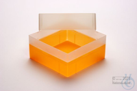 EPPi® Box 102 / 1x1 without divider, neon-orange, height 102 mm fix, without...