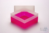 EPPi® Box 102 / 1x1 without divider, neon-red/pink, height 102 mm fix,...