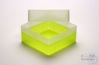 EPPi® Box 102 / 1x1 without divider, neon-yellow, height 102 mm fix, without...