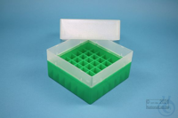 EPPi® Box 102 / 7x7 divider, green, height 102 mm fix, without ID code, PP....