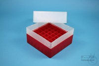 EPPi® Box 102 / 7x7 divider, red, height 102 mm fix, without ID code, PP....