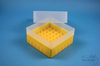 EPPi® Box 102 / 7x7 divider, yellow, height 102 mm fix, without ID code, PP....