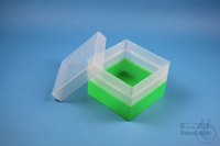 EPPi® Box 105 / 1x1 without divider, neon-green, height 105 mm fix, without...