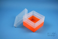 EPPi® Box 105 / 1x1 without divider, neon-orange, height 105 mm fix, without...