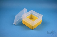 EPPi® Box 105 / 1x1 without divider, yellow, height 105 mm fix, without ID...
