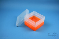 EPPi® Box 105 / 7x7 divider, neon-orange, height 105 mm fix, without ID code,...