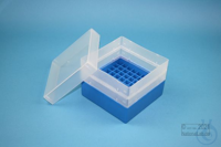 EPPi® Box 105 / 9x9 divider, blue, height 105 mm fix, without ID code, PP....