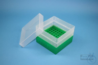EPPi® Box 105 / 9x9 divider, green, height 105 mm fix, without ID code, PP....