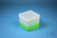 EPPi® Box 121 / 1x1 without divider, neon-green, height 121-131 mm variable,...