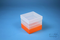 EPPi® Box 121 / 1x1 without divider, neon-orange, height 121-131 mm variable,...