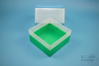EPPi® Box 122 / 1x1 without divider, green, height 122 mm fix, without ID...