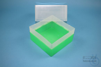 EPPi® Box 122 / 1x1 without divider, neon-green, height 122 mm fix, without...