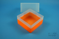 EPPi® Box 122 / 1x1 without divider, neon-orange, height 122 mm fix, without...