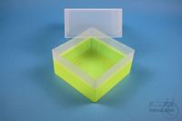 EPPi® Box 122 / 1x1 without divider, neon-yellow, height 122 mm fix, without...