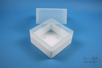 EPPi® Box 122 / 1x1 without divider, white, height 122 mm fix, without ID...