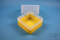 EPPi® Box 122 / 1x1 without divider, yellow, height 122 mm fix, without ID...