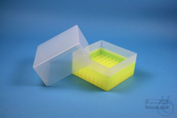 EPPi® Box 122 / 9x9 divider, neon-yellow, height 122 mm fix, without ID code,...