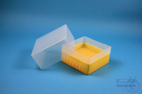 EPPi® Box 122 / 9x9 divider, yellow, height 122 mm fix, without ID code, PP....