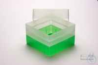 EPPi® Box 128 / 1x1 without divider, neon-green, height 128 mm fix, without...