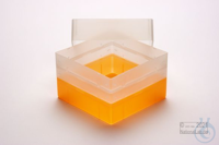 EPPi® Box 128 / 1x1 without divider, neon-orange, height 128 mm fix, without...