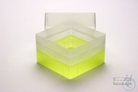 EPPi® Box 128 / 1x1 without divider, neon-yellow, height 128 mm fix, without...
