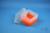 EPPi® Box 128 / 7x7 Fächer, neon-orange, Höhe 128 mm fix, ohne Codierung, PP....