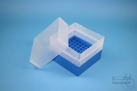 EPPi® Box 128 / 9x9 divider, blue, height 128 mm fix, without ID code, PP....