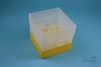 EPPi® Box 128 / 10 holes, yellow, height 128 mm fix, without ID code, PP....