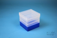 EPPi® Box 129 / 1x1 without divider, neon-blue, height 129 mm fix, without ID...