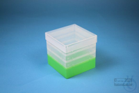 EPPi® Box 129 / 1x1 without divider, neon-green, height 129 mm fix, without...