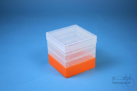 EPPi® Box 129 / 1x1 without divider, neon-orange, height 129 mm fix, without...