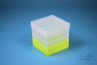 EPPi® Box 129 / 1x1 without divider, neon-yellow, height 129 mm fix, without...