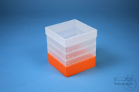 EPPi® Box 145 / 1x1 without divider, neon-orange, height 145-155 mm variable,...