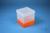 EPPi® Box 145 / 1x1 ohne Facheinteilung, neon-orange, Höhe 145-155 mm...