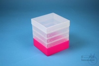 EPPi® Box 145 / 1x1 without divider, neon-red/pink, height 145-155 mm...