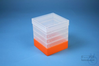 EPPi® Box 154 / 1x1 without divider, neon-orange, height 154 mm fix, without...