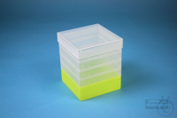 EPPi® Box 154 / 1x1 without divider, neon-yellow, height 154 mm fix, without...
