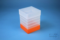 EPPi® Box 178 / 1x1 without divider, neon-orange, height 178 mm fix, without...