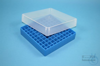 EPPi® Box 37 / 10x10 divider, blue, height 37 mm fix, without ID code, PP....