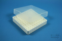 EPPi® Box 37 / 10x10 divider, white, height 37 mm fix, without ID code, PP....