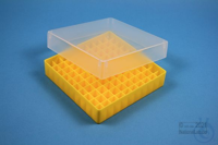 EPPi® Box 37 / 10x10 divider, yellow, height 37 mm fix, without ID code, PP....