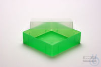 EPPi® Box 37 / 1x1 without divider, neon-green, height 37 mm fix, without ID...