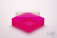 EPPi® Box 37 / 1x1 without divider, neon-red/pink, height 37 mm fix, without...