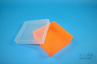 EPPi® Box 45 / 1x1 without divider, neon-orange, height 45-53 mm variable,...
